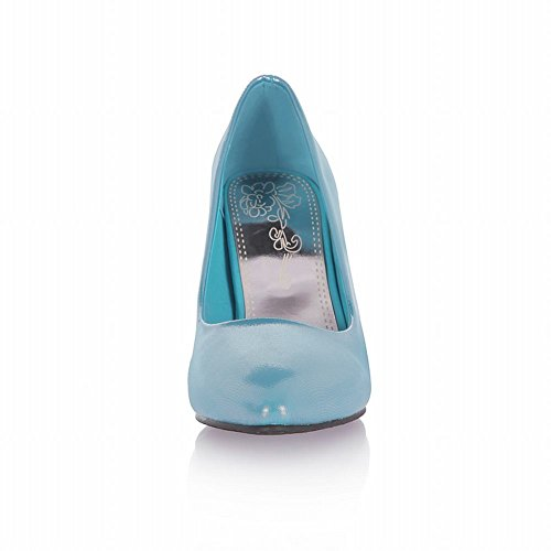 Carol Zapatos Elegance Mujeres Cuff Fashion High Stiletto Heel Nupcial Bombas Zapatos Azul