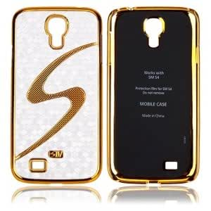 Golden Edge with S Pattern Skin Hard Case for Samsung SIV S4 I9500 Silver