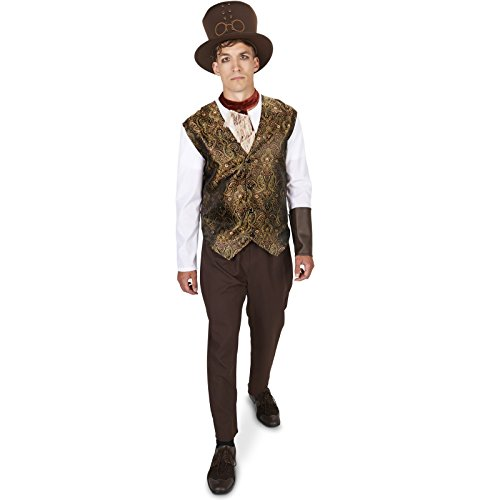 [Steampunk Man with Neck Piece Adult Costume L] (Steampunk Costumes Men)
