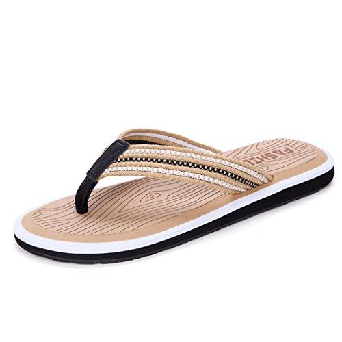 Summer Man Slipper, Sandalen Schuh mit Füßen Anti-Rutsch Strand Schuhe Flip Flops Fuß Hausschuhe Großformat Hotel Gästezimmer Slipper D