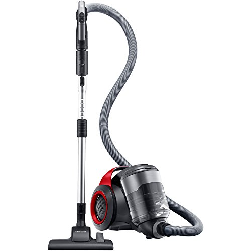 Samsung VC12F70HNHR/AA Motion Sync Bagless Canister Vacuum with Superior Swivel Steering, Vitality Red