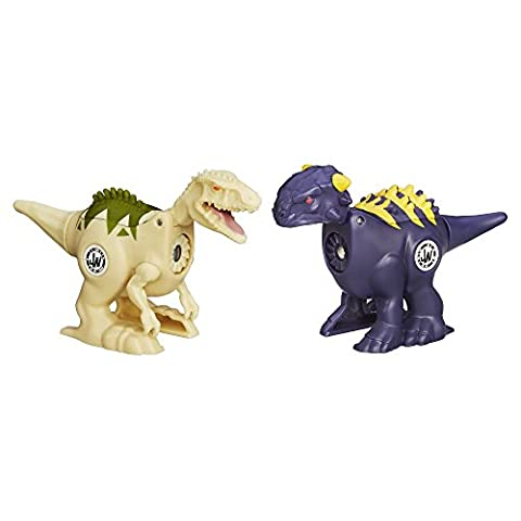 Jurassic World Brawlasaurs Ankylosaurus vs. Indominus Rex Figure Pack - Ankylosaurus Dinosaur Toy