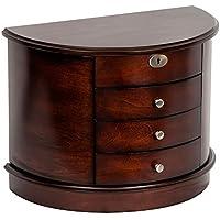 Mele & Co. 00884F16 York Locking Wooden Jewelry Box