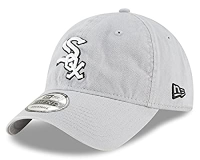 "Chicago White Sox New Era MLB 9Twenty ""Core Classic Twill"" Adjustable Gray Hat by New Era"