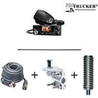 Pro Trucker CB Radio Full Kit Includes Uniden PRO505XL, 4 CB Antenna, 12 Coax Cable, Antenna Mount, Antenna Stud, & Antenna Spring