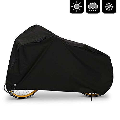 AIMUHO Bike Cover 210D Oxford Fabric Waterproof Bicycle Cover with Lock Holes, Outdoor Bicycle Rain Cover UV Protection for All Weather Conditions/XL Size by AIMUHO
