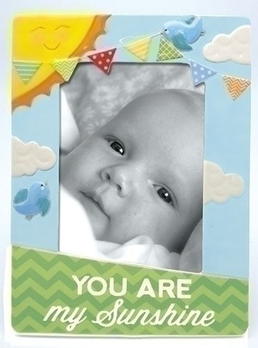 You Are My Sunshine Colorful Birds Porcelain 4x6 Picture Frame