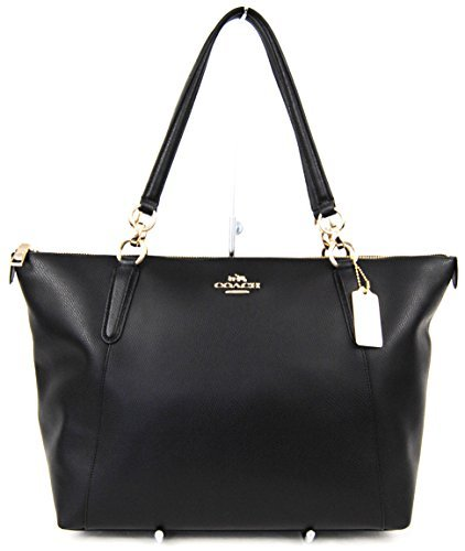 AVA Tote in Crossgrain Leather in Black - Classic Coach Wallet