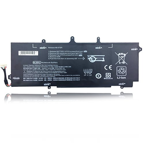 Price comparison product image Emaks BL06XL Battery BL06042XL for HP EliteBook Folio 1040 G0 G1 G2,P/N: HSTNN-DB5D IB5D W02C 722236-171 1C1 271 2C1 722297-001 005 F450 F450C 11.1V 42Wh/3780mAh 6-Cell