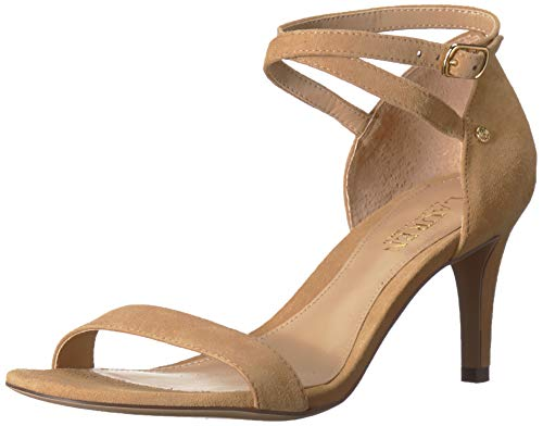 Lauren Ralph Lauren Women's Glinda Heeled Sandal, Light/Pastel Brown, 9 B US