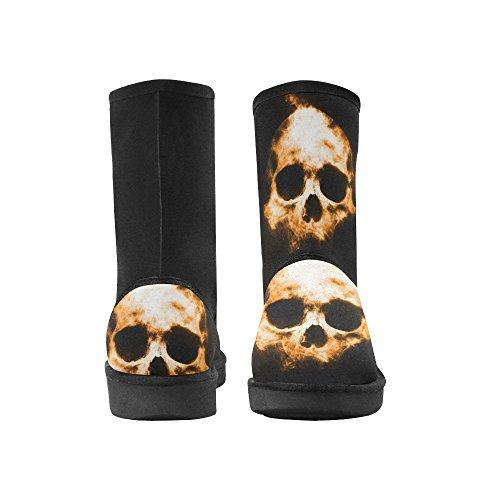 InterestPrint LEINTEREST skull Snow Boots Fashion Shoes For Women qYzIX2F