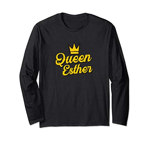 Purim Party Shirt Queen Esther Costume Long Sleeve Shirt