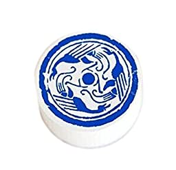 4 Pieces Of Chinese Blue And White Porcelain Pattern Retro Style Wooden Seal