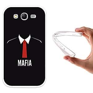 WoowCase - Funda Gel Flexible { Samsung Galaxy Grand Neo } Mafia Corbata Roja Carcasa Case Silicona TPU Suave