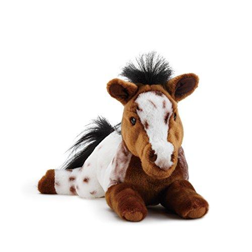 DEMDACO Laying Large Appaloosa Horse Spotted Children's Plush Stuffed Animal]()