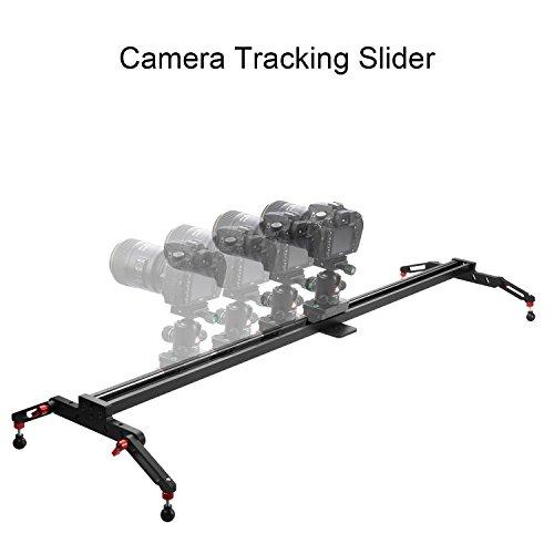 Slider for Camera, Papaler VM-120 47'/120cm Camera Slider Rail Track Dolly Stabilizer dslr Rail Linear Stabilization System with 5kg Load Capacity for SLR/DSLR Cameras Camcorders