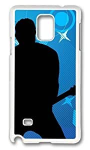 Adorable Guitar Solo Hard Case Protective Shell Cell Phone For Case Iphone 4/4S Cover - PC White