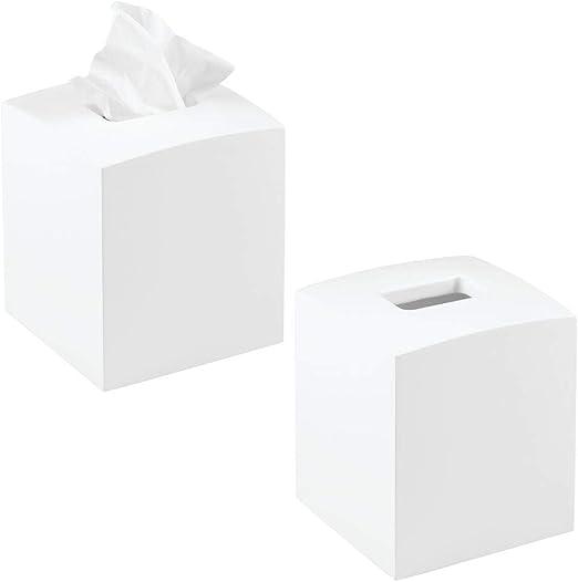 mDesign Caja de pañuelos con forma cuadrada – Práctico dispensador ...