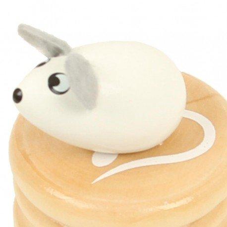 Boite /à dents de lait souris blanche bo/îte en bois couvercle /à visser enfant 5
