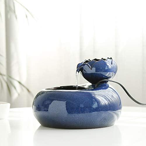 犬猫ウォーターディスペンサー、蓮口セラミックペット水噴水、自動循環水噴水、猫ウォーターディスペンサーモバイルウォーターベイスンドリンカー,Blue