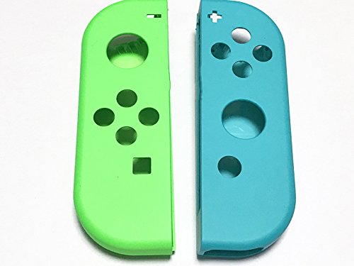 Full Housing Faceplate Handle Shells Case Cover for Nintendo Switch Controller Joy-Con Faceplate Left Green Right Blue
