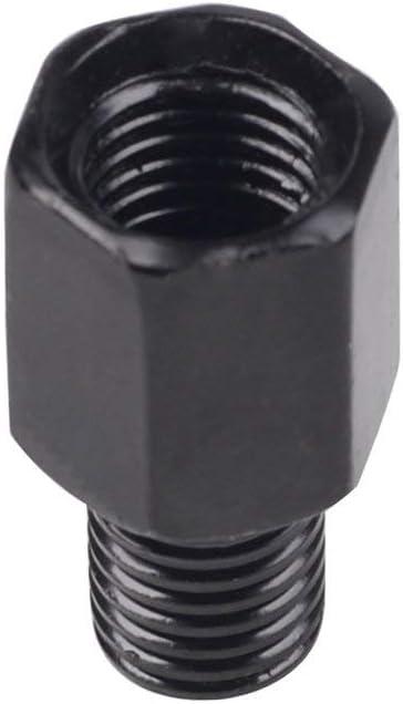 argent Adaptateur de marche arri/ère pour r/étroviseurs moto 10mm Boulons de conversion pour gaucher /à 10mm pour droitier Vis dans le sens des aiguilles dune montre