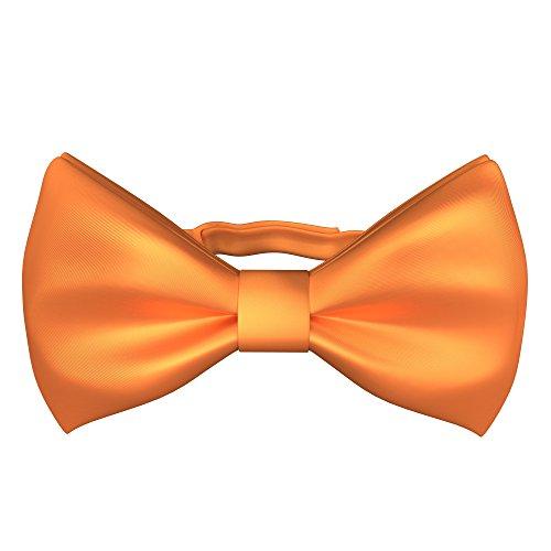 Orange Bowties (Fly & Dapper Pre-Tied Tuxedo Bow Tie - Classic Formal Bow Tie for Men - Premium Tux Bowtie - Universal Size, Adjustable Length for Extreme Comfort - Orange Bow Tie)