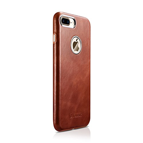 "iPhone 7 Housse, iPhone 8 Housse, Icarer Ultra Slim véritable cuir Cover en étui protecteur Bumper Coque pour Apple iPhone 7/8 4.7"" (marron)"