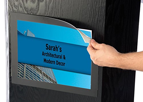 Portable Podium for Floor, with Shelf, 49'' Tall, 30'' Wide, 8.5'' x 11'' Sign Holder, Wood by Displays2go (Image #3)