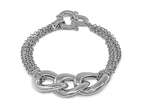 Fronay Co .925 Sterling Silver Veneto Mesh Links Bracelet for - Mall Aventura The