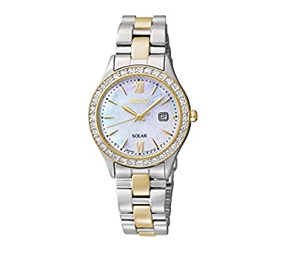 Seiko Women's Two-Tone Crystal Solar Bracelet Watch