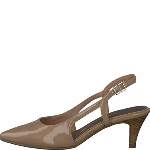Back Sling Black 28 Nude Patent 29601 Shoe Tamaris nS1XFqUxF