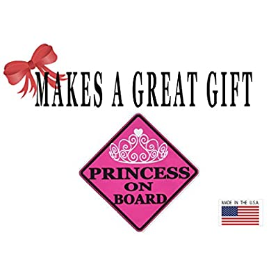 Rogue River Tactical Pink Princess On Board Sticker Car Window Decal Bumper for Girl Daughter Vehicle Safety Sticker Sign for Car Truck SUV (1): Automotive