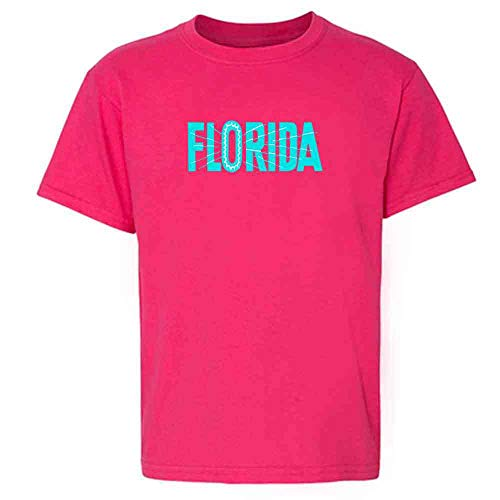 Florida State Retro Vintage Travel Pink 6 Toddler Kids ()