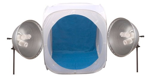 Interfit INT323 Pop Up Light Tent Kit with 2 Fluorescent LampHeads and Stands