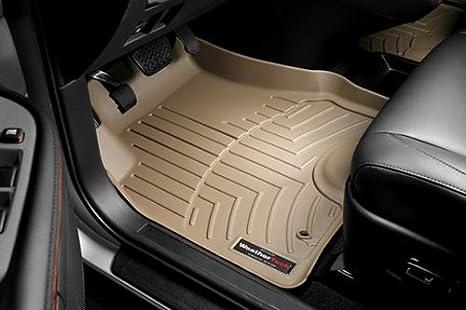 Tan WeatherTech Custom Fit Front FloorLiner for Lexus IS