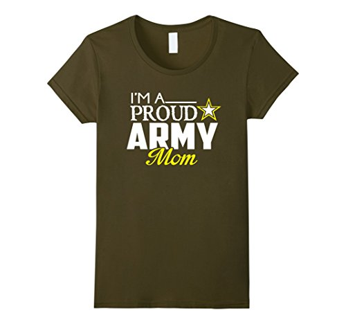 Womens I'm A Proud Army Mom T Shirt - Military Mom Tee XL Olive Army Mom Green T-shirt