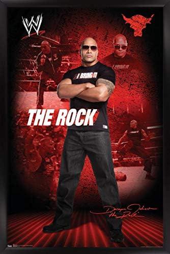 """トレンド国際WWE The Rock 22.375"""" x 34"""" FR1206BLK22X34"""