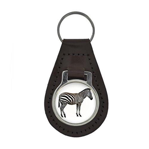 Zebra Image Keyring Gift Boxed - DARK BROWN (Zebra Chain)