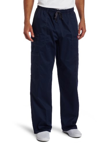 Scrub Navy Cargo Pant (Dickies Generation Flex Men's Youtility Scrub Pants,Navy,Large)