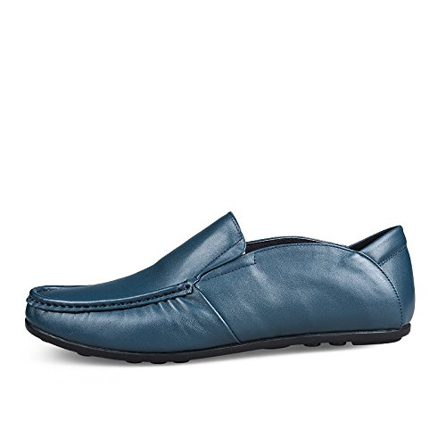 Stylish Driver Blue Dating Casual Loafers Slip Flat Mens on Light Sneakers CFP 9916 Moccasins ngxZORZE