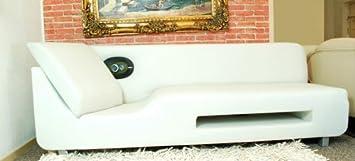 Sound Lounge Sofa Mit Boxen Pu Leder Weiss Lautsprecher Amazon De