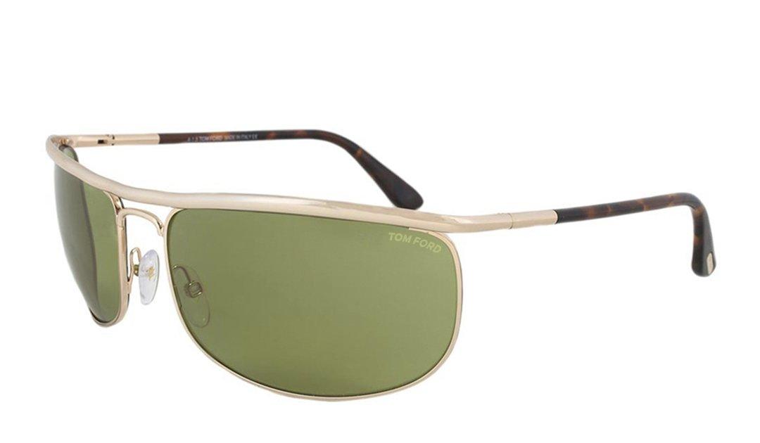Tom Ford Men's Ryder FT0418 28N Sunglasses, Rose Gold, 68mm x 18mm x 125mm