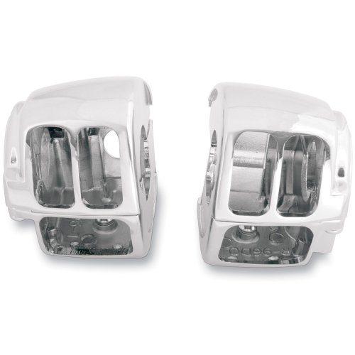Country Handlebar Switch Cycle (Hill Country Customs Chrome Handlebar Switch Housings for 1996-2013 Harley-Davidson Dyna Softail and Sportster models - HC-SH1007)