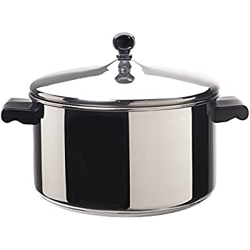 Farberware 50005 Classic Stainless Steel Stock Pot/Stockpot with Lid - 6 Quart, Silver