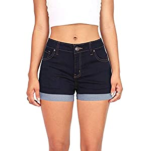 Wax Women's Juniors Mid-Rise Denim Shorts 23