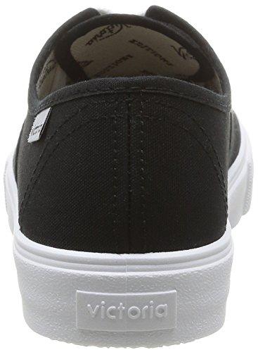 Victoria Unisex Adulto Lona Ingles Zapatos negro Noir wTUwOnx