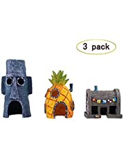 TEEMO Spongebob Aquarium Decoration Value Pack
