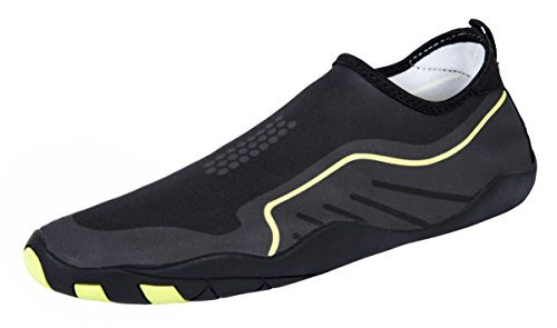 MEWOOCUE Sport Water Shoes Barefoot Quick-Dry Aqua Socks Beach Swim Surf Yoga Skin Shoes for Men Women - Size 9 by MEWOOCUE (Image #1)