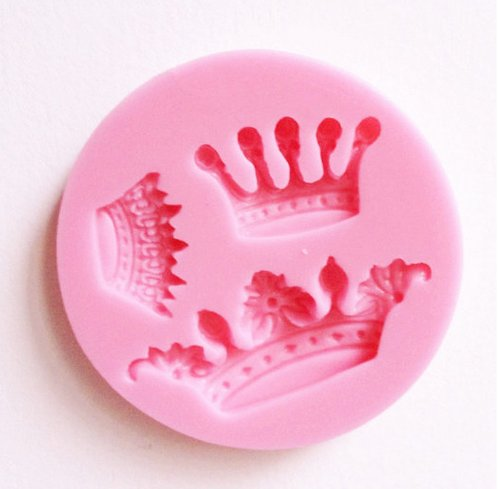 Yunko 3 Cavity Mini Queen Crown Mold Silicone Chocolate Fondant Candy Mold -